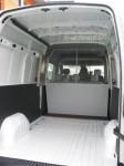 Predelava novega Renault Master v furgon s podaljšano kabino: Podaljšana kabina stena mreza od zadaj