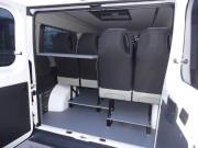 Boxer L2H1 13 sedežni pogled v prtljažni del